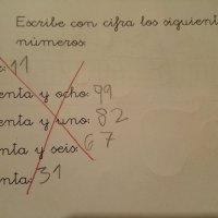 Escreve os seguintes números